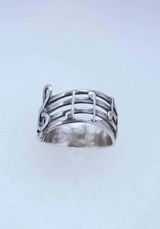 Серебряное кольцо мелодия серебро 925 проба