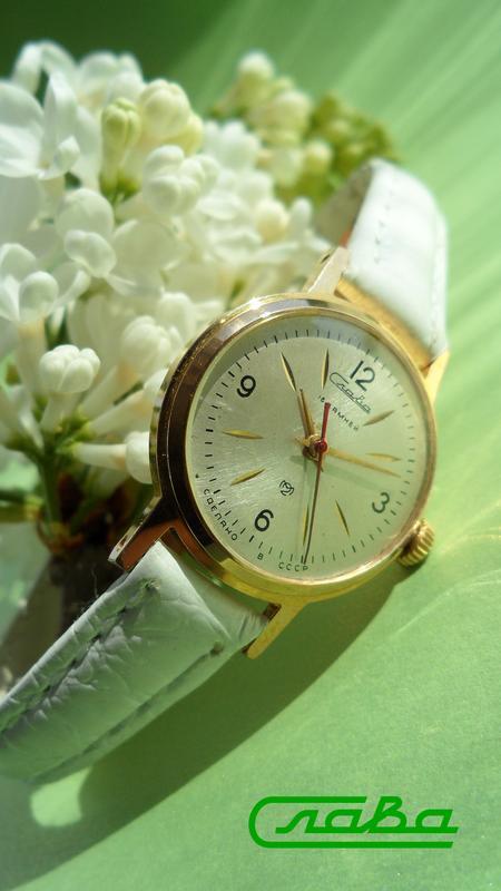 Часы История «СЛАВА 1809» 1967г. ПОЗОЛОТА, СОСТОЯНИЕ! женские
