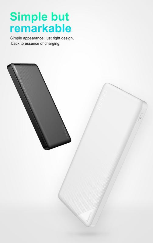 Внешний аккумулятор, Power Bank Baseus 10000 мАч, Белый. - Фото 2