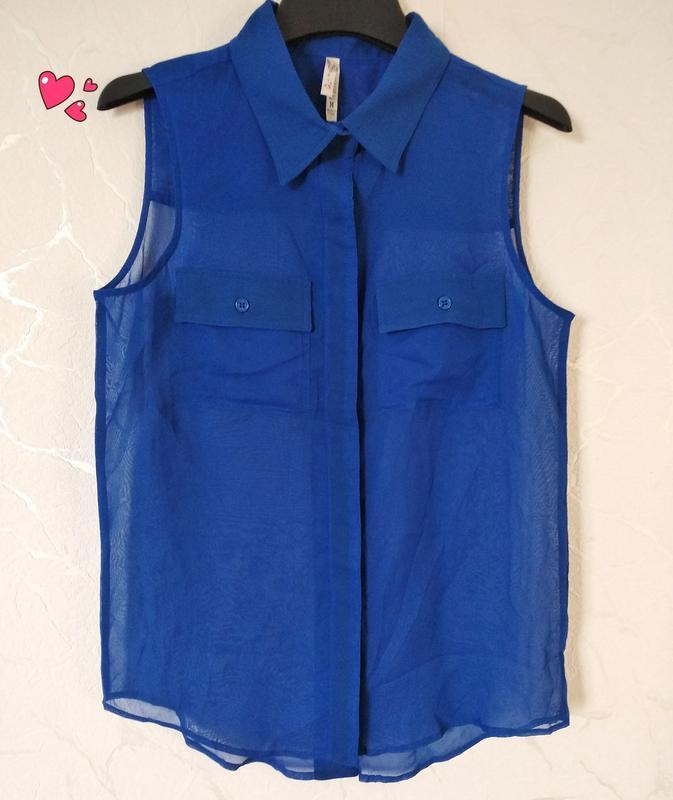 Яркая блуза, рубашка без рукавов с пуговицами, молодежная одежда