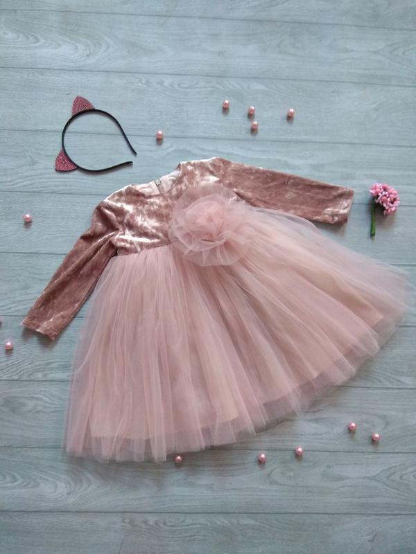 Фатиновое бархатное платье