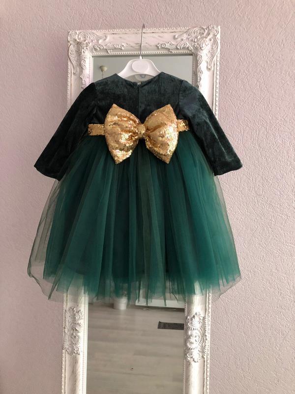 Платье бант пайетки