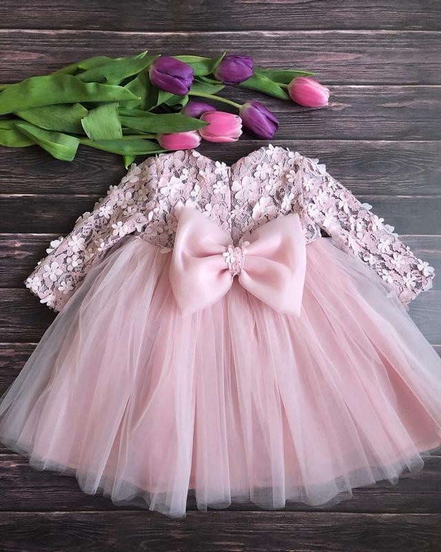 Нежное фатиновое платье для девочки