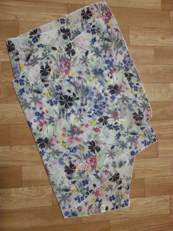 Шифоновый шарф цветы - Фото 2