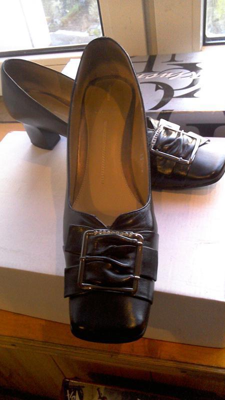 Кожаные черные туфли - Фото 3