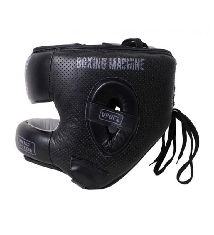 Боксерский шлем V`Noks с бампером Boxing Machine PRO Черный - Фото 4