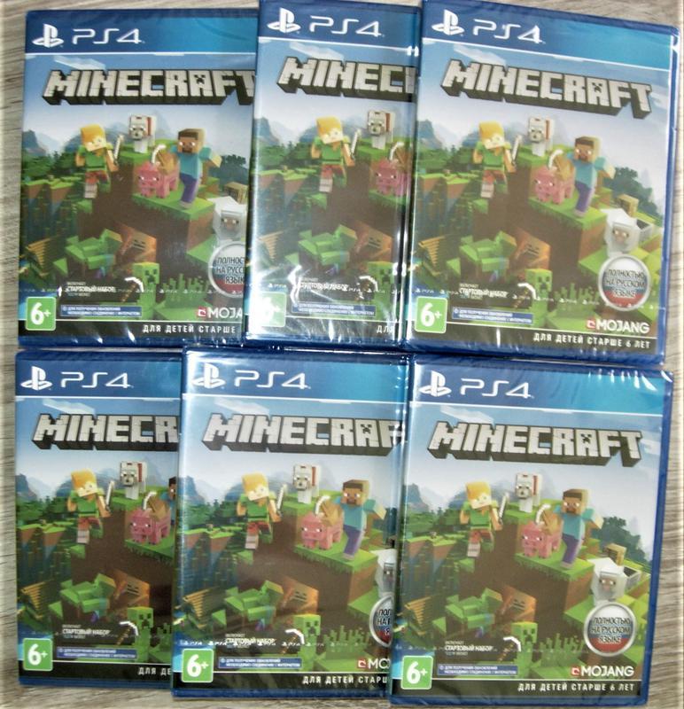 Minecraft PS4 Edition. Диск Новый, русская версия и обложка