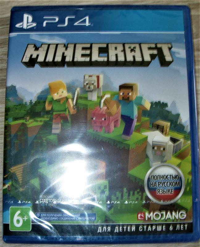 Minecraft PS4 Edition. Диск Новый, русская версия и обложка - Фото 2