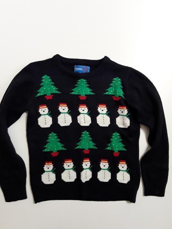 Фирменная новогодняя кофта свитер 11-12 лет