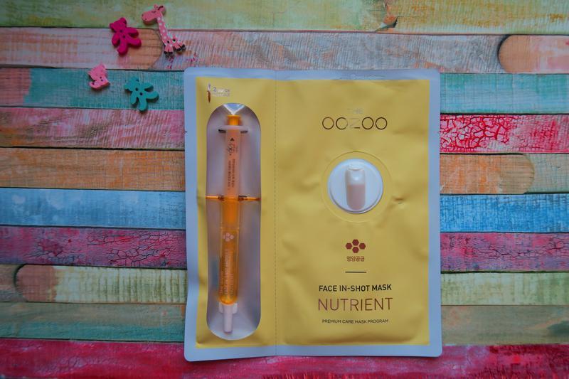 Питательная маска для лица, the oozoo nutrient face in-shot mask