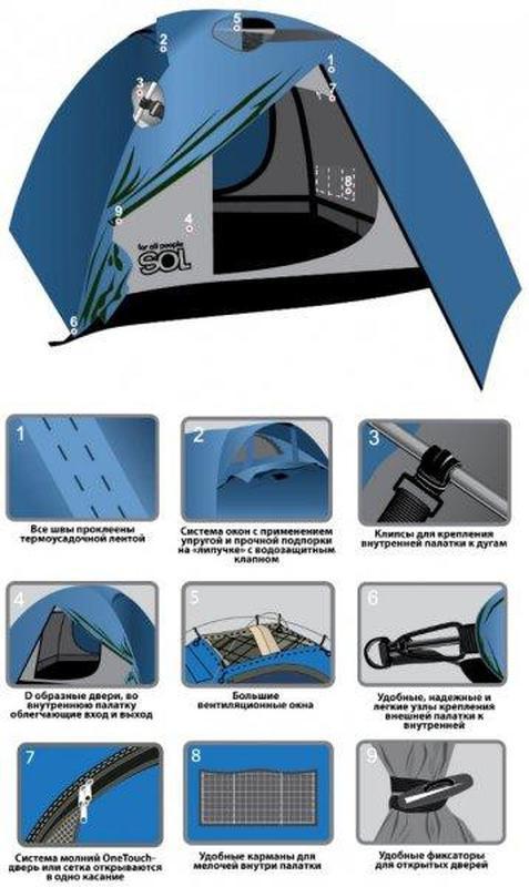 Палатка Twister Tramp  TS-60410 - Фото 4