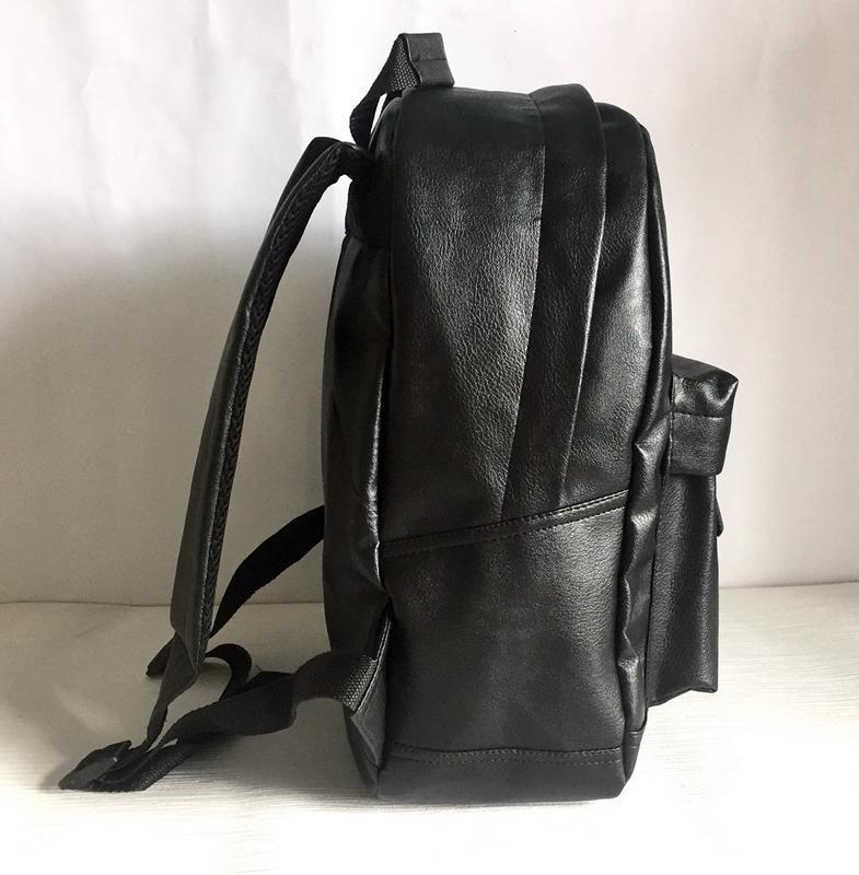 Городской рюкзак из экокожи черный - Фото 2