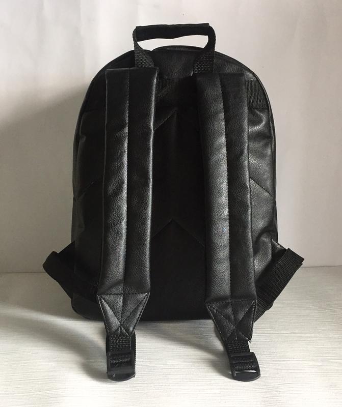 Городской рюкзак из экокожи черный - Фото 4