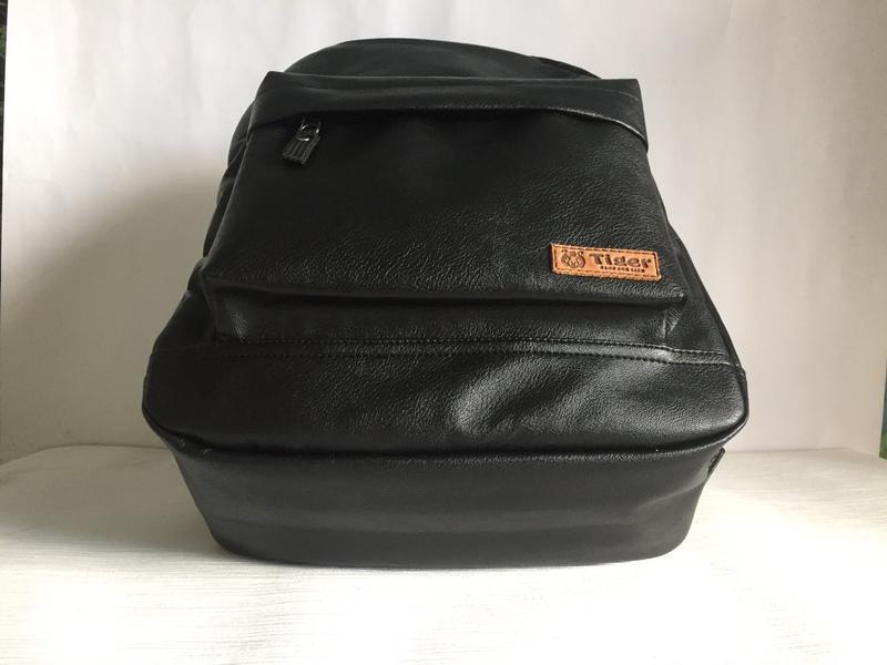 Городской рюкзак из экокожи черный - Фото 5