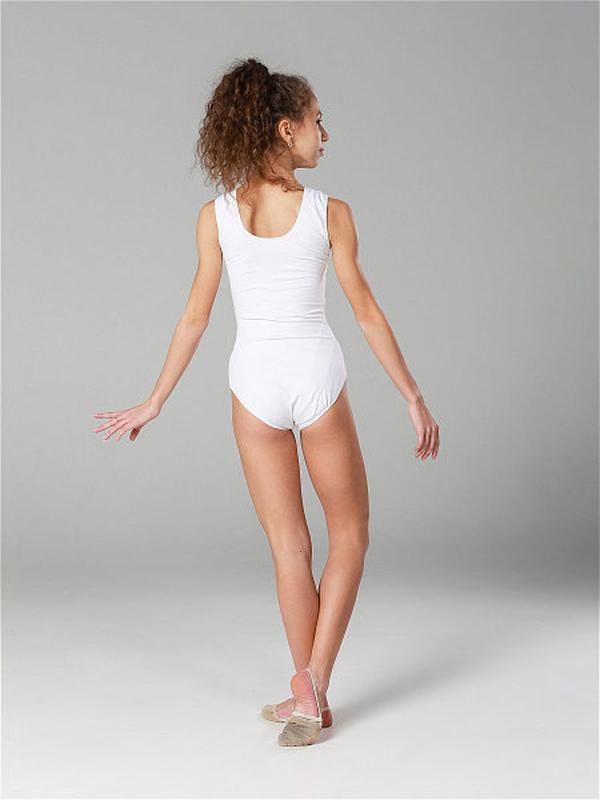 Купальник-майка белый детский для хореографии - Фото 3