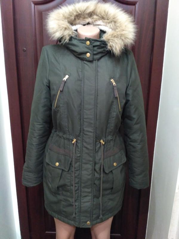 Vero moda куртка, парка защитного цвета