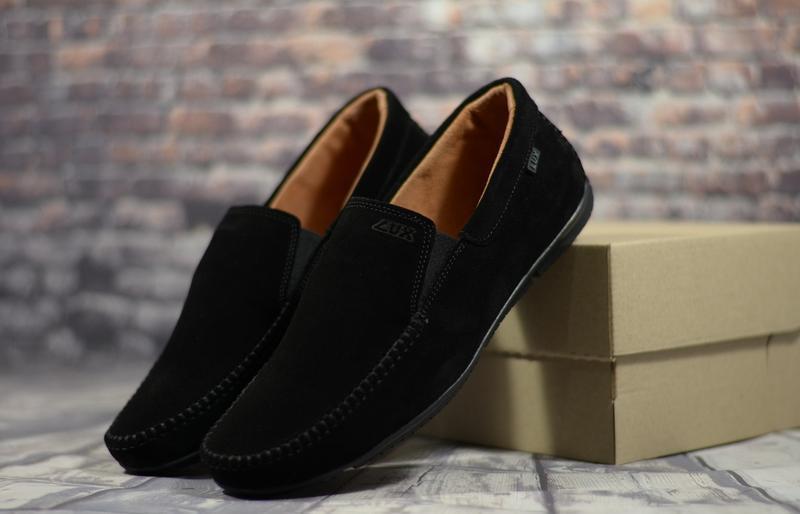 Стильные замшевые мужские мокасины туфли