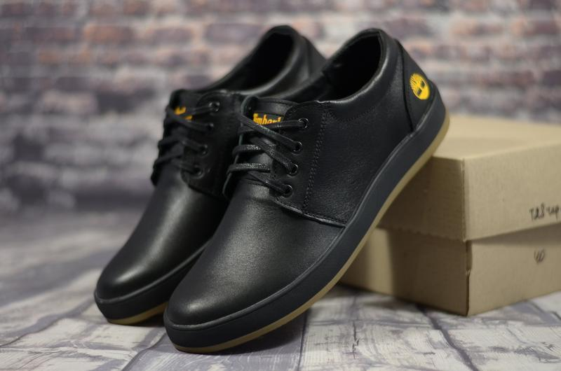 Мужские кожаные спортивные туфли кроссовки кеды