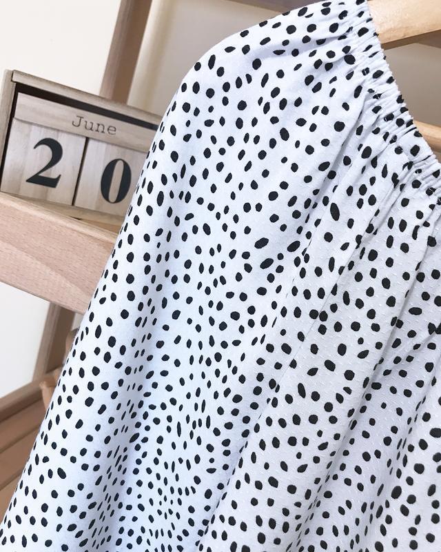 Блуза в горошек с воланами рюшами - Фото 4
