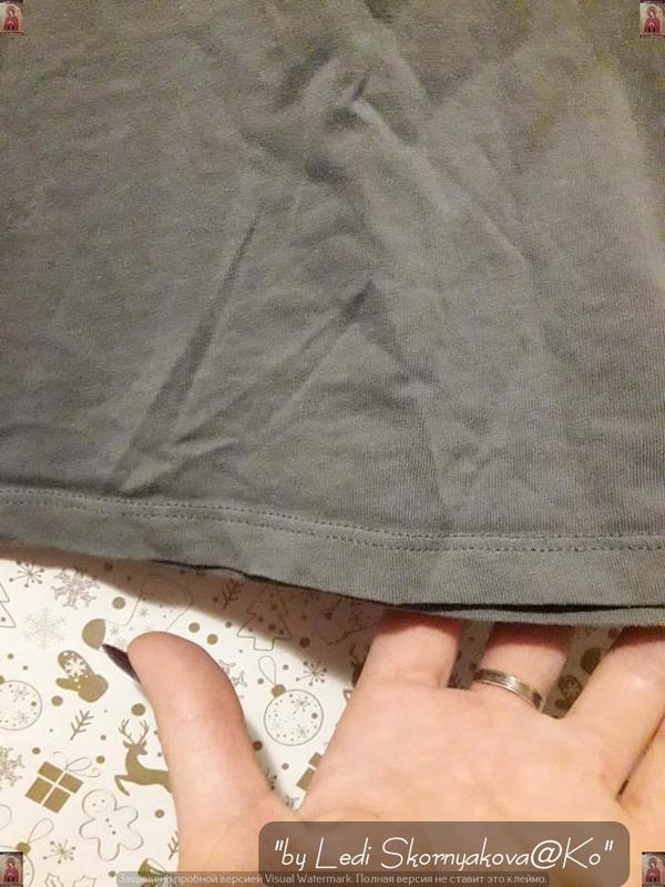 """Фирменная h&m красивая футболка цвета хаки с принтом """"бургер"""",... - Фото 3"""