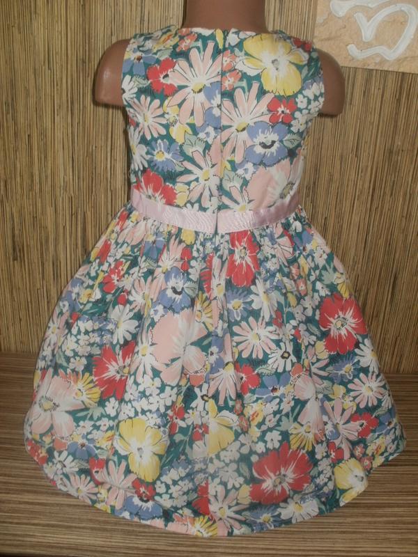 Платье с цветочным рисунком на 7 лет - Фото 2