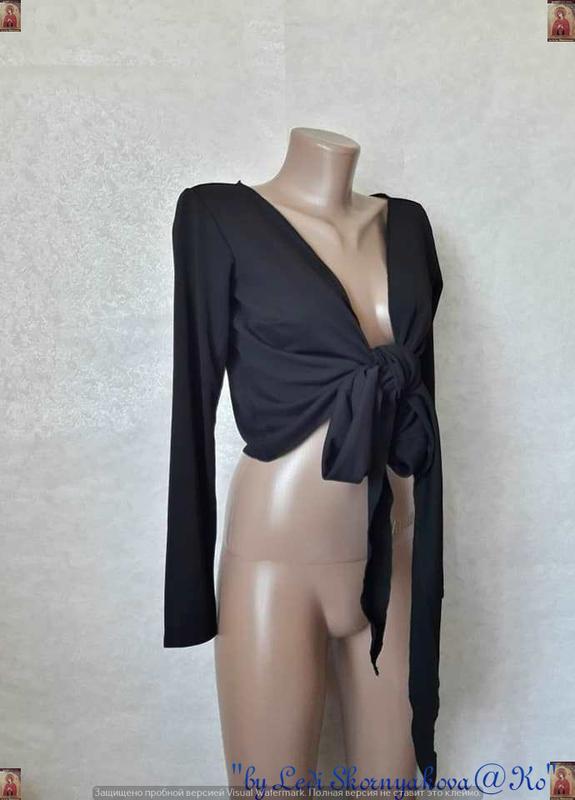Фирменное h&m новое с биркой боллеро в чёрном цвете с завязкам... - Фото 4