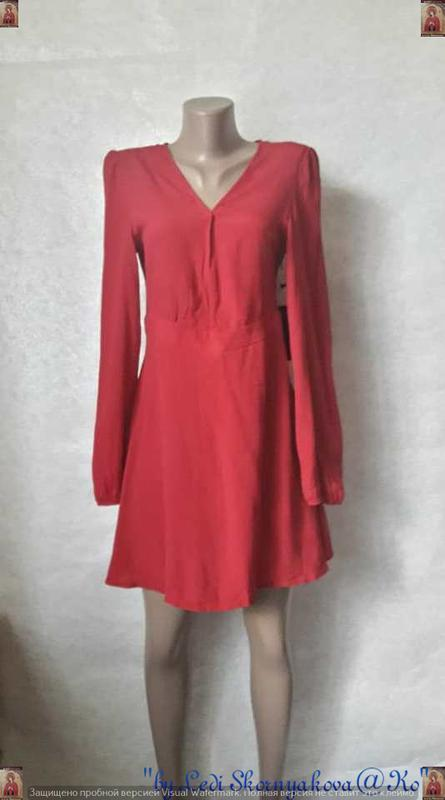 Фирменное forever 21 с биркой мини платье сочного красного цве...