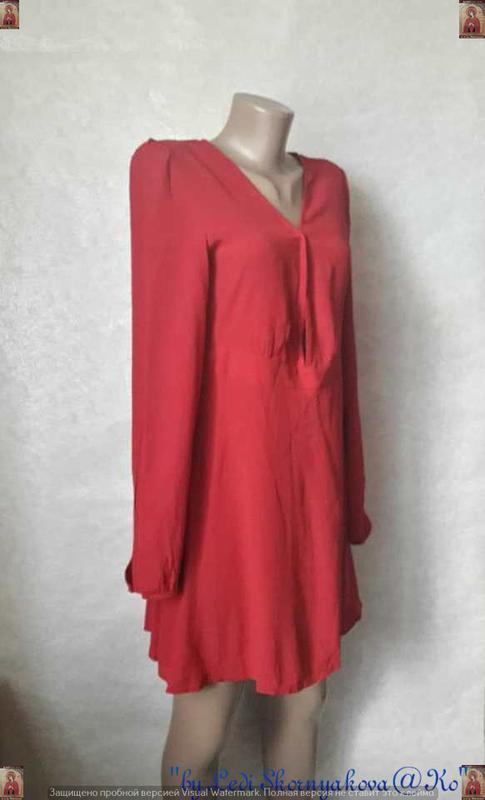 Фирменное forever 21 с биркой мини платье сочного красного цве... - Фото 3
