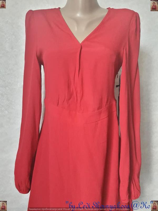 Фирменное forever 21 с биркой мини платье сочного красного цве... - Фото 5