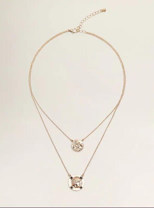 Цепочка, цепочки, ожерелье, многоярусное, многослойная, кулон,...