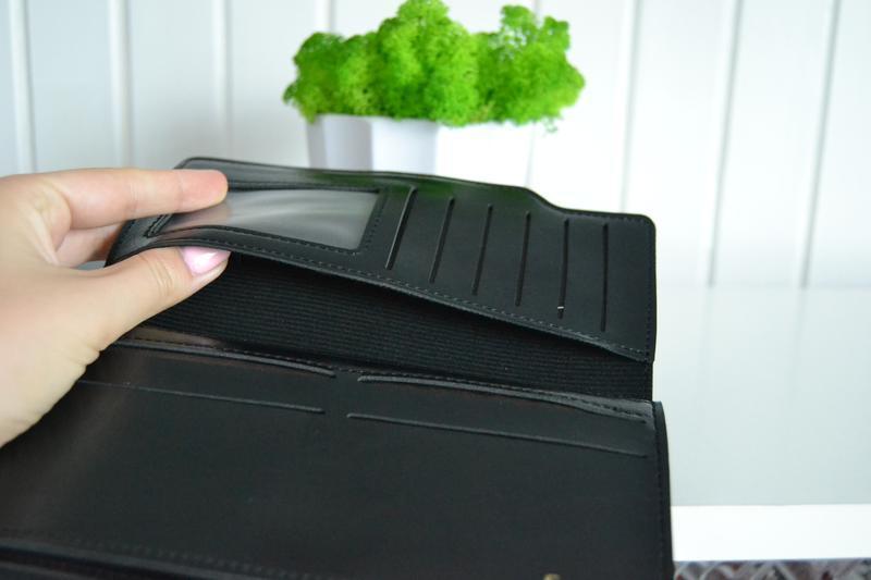 Гаманець чорний на кнопці - Фото 2