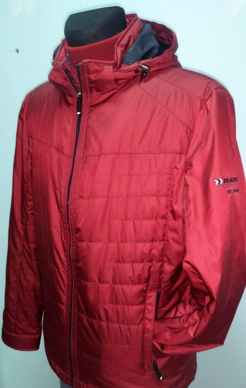 Осіння чоловіча куртка  BLACK VINYL 17-818 red