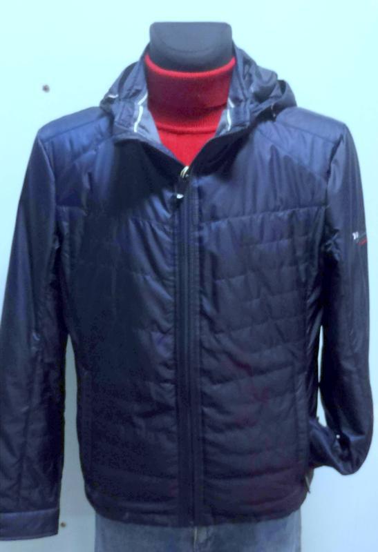 Осіння чоловіча куртка  BLACK VINYL 17-818 blue