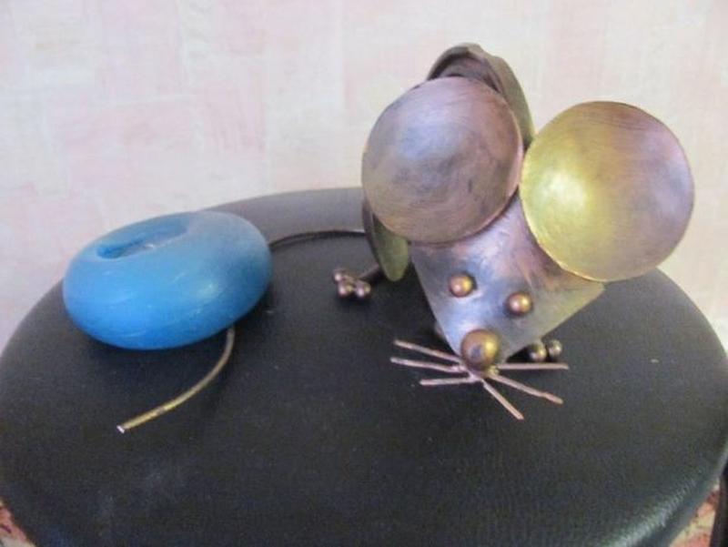 Мышь металл Арт Стимпанк Стим-панк Contemporary ART Steampunk - Фото 2