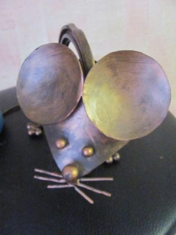 Мышь металл Арт Стимпанк Стим-панк Contemporary ART Steampunk - Фото 3