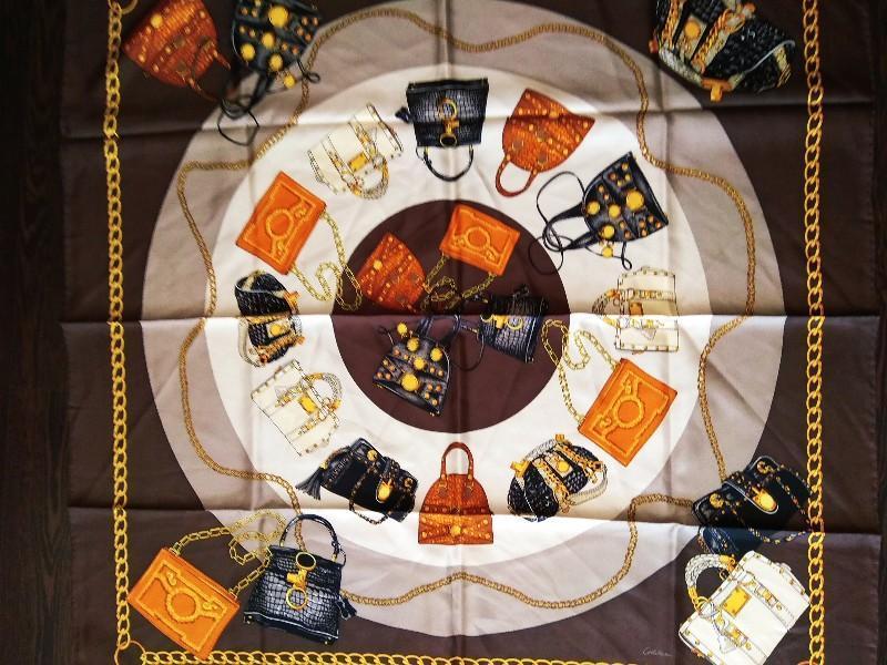 Шикарный шелковый подписной платок шов рауль от codello 100% о...