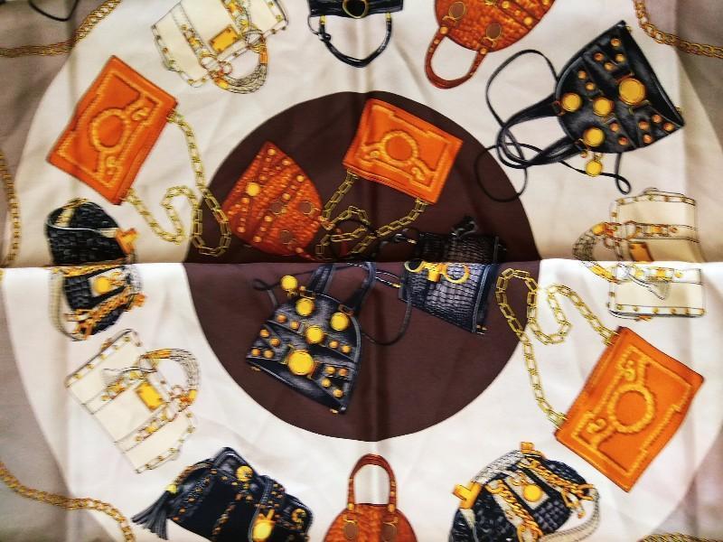 Шикарный шелковый подписной платок шов рауль от codello 100% о... - Фото 2