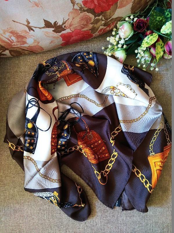 Шикарный шелковый подписной платок шов рауль от codello 100% о... - Фото 3