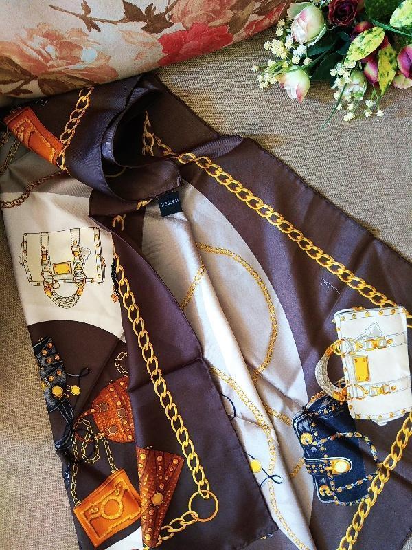 Шикарный шелковый подписной платок шов рауль от codello 100% о... - Фото 4