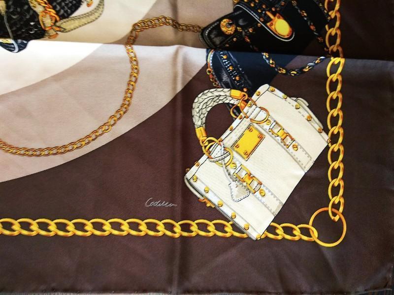 Шикарный шелковый подписной платок шов рауль от codello 100% о... - Фото 5