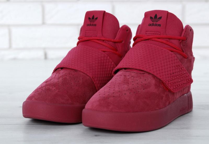 Очень крутые кроссовки 💪 tubular invader strap red 💪