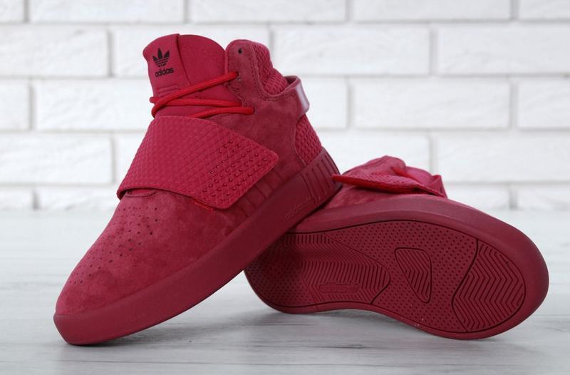 Очень крутые кроссовки 💪 tubular invader strap red 💪 - Фото 5