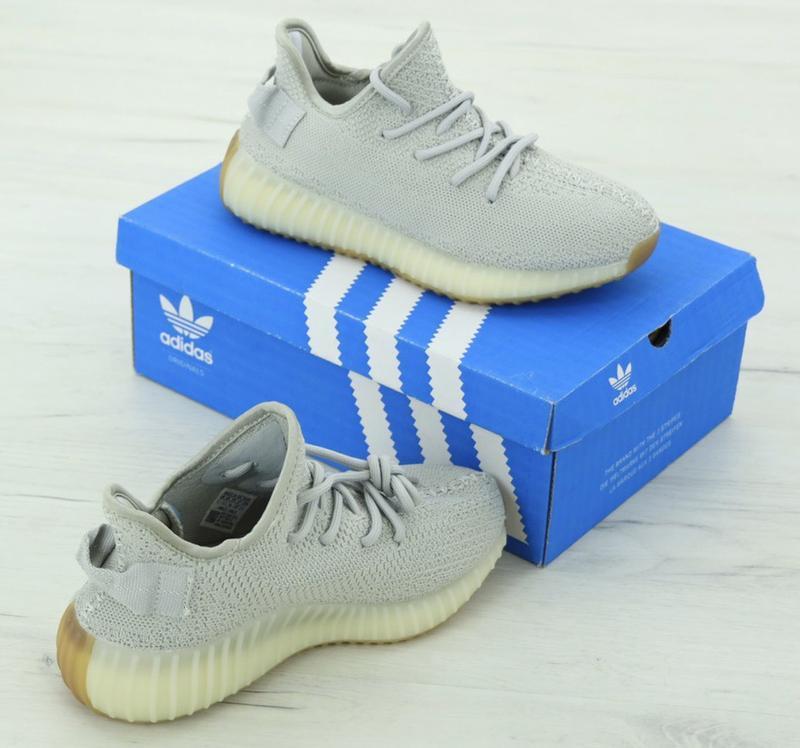 Известные кроссовки 💪 adidas yeezy boost 350 gray 💪 - Фото 4