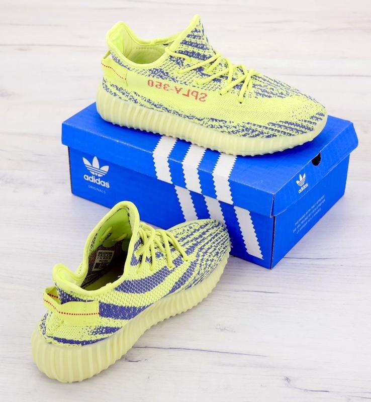 Хайповые кроссовки 💪  adidas yeezy boost 350 off-white yellow 💪 - Фото 5