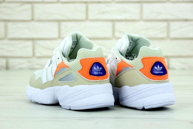 Бомбезные кроссовки 💪 adias yung-96 white beige 💪 - Фото 4