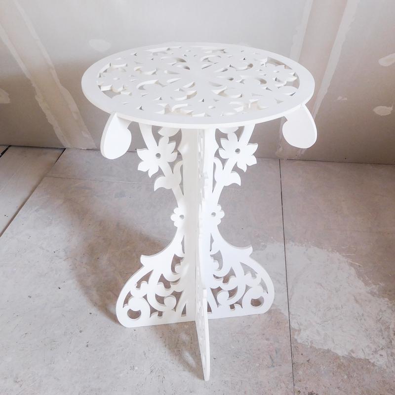 Столик ажурный свадебный деревянный стол декор весільний стіл - Фото 4