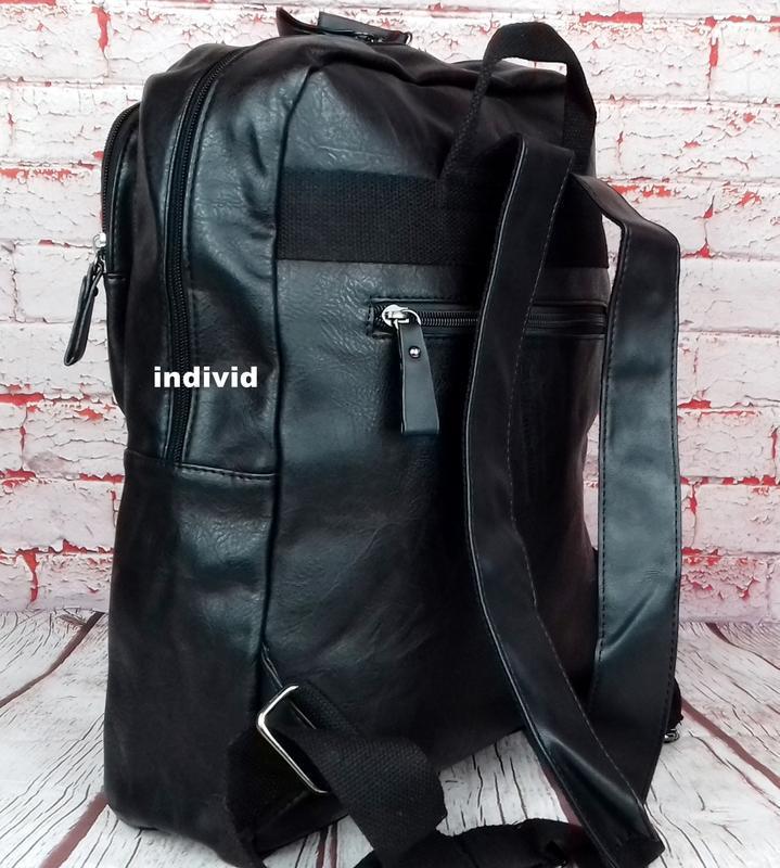 Кожаный рюкзак. мужской портфель. сумка для ноутбука.  сумка д... - Фото 2