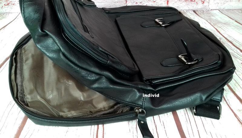 Кожаный рюкзак. мужской портфель. сумка для ноутбука.  сумка д... - Фото 3