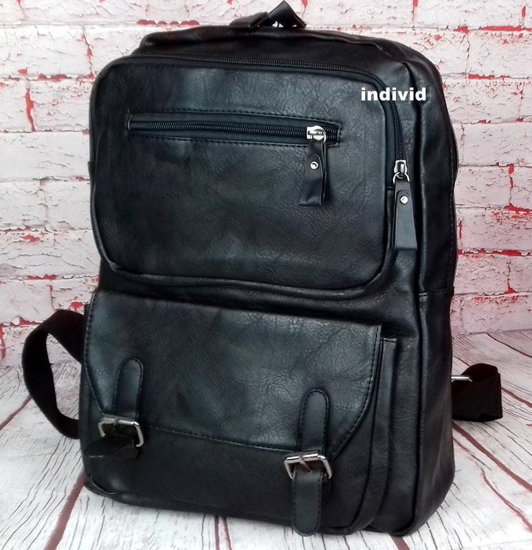 Кожаный рюкзак. мужской портфель. сумка для ноутбука.  сумка д... - Фото 4