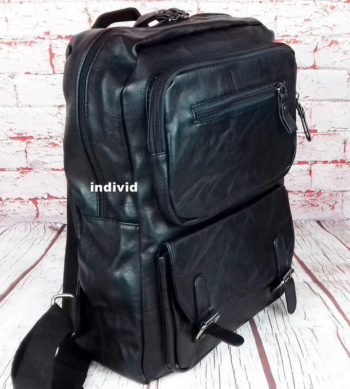 Кожаный рюкзак. мужской портфель. сумка для ноутбука.  сумка д... - Фото 5